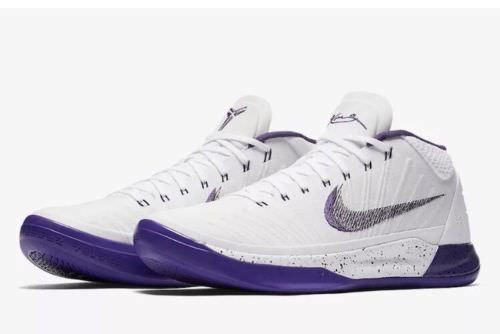 d646a40111e6 Nike KOBE AD MID Mens Basketball Shoes 14 White Court Purple 922482 100   Nike  BasketballShoes