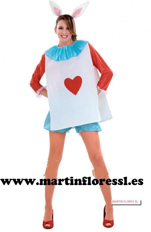 disfraz conejo Alicia en el país de las maravillas en #sevilla www.martinfloressl.es Disfraces y golosinas para fiesta