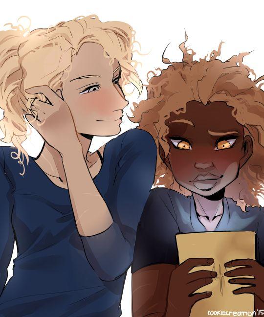Annabeth and Hazel by cookiecreation