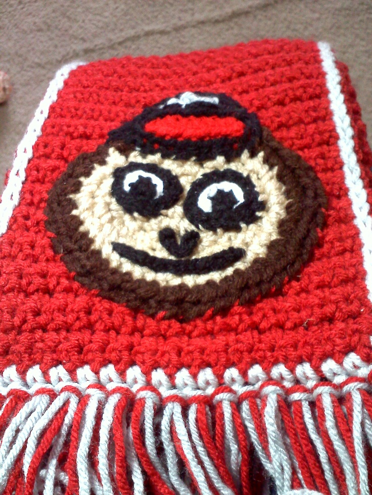 """Brutus scarf (same design as the block """"O"""" but with Brutus) Snowman Table Runner and Placemats Find us on Facebook - search for Grannies in the Attic Crochet E-mail: granniesintheattic @Yahoo!.com if you have any questions or would want to place an order for one or for something else!"""