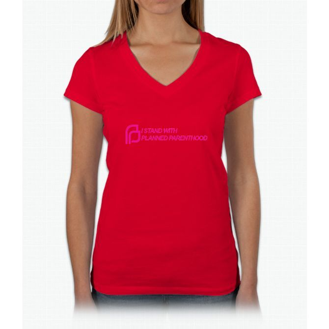 I Stand With Planned Parenthood Womens V-Neck T-Shirt