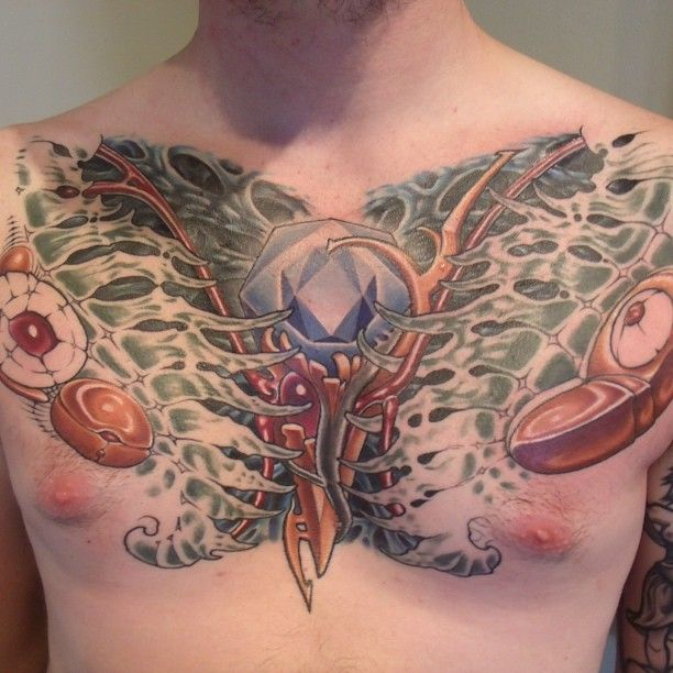 41 Best Chest Piece Tattoo Designs Images On Pinterest