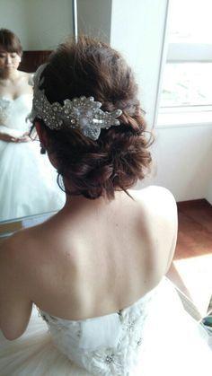 【東京グランドハイアット】ブライダルヘアメイク出張 優子さんの結婚式 |City Wedding 大阪 梅田、京都、神戸 ブライダルヘアメイク出張 ☆ヘアメイクアーティストモリの美女採集