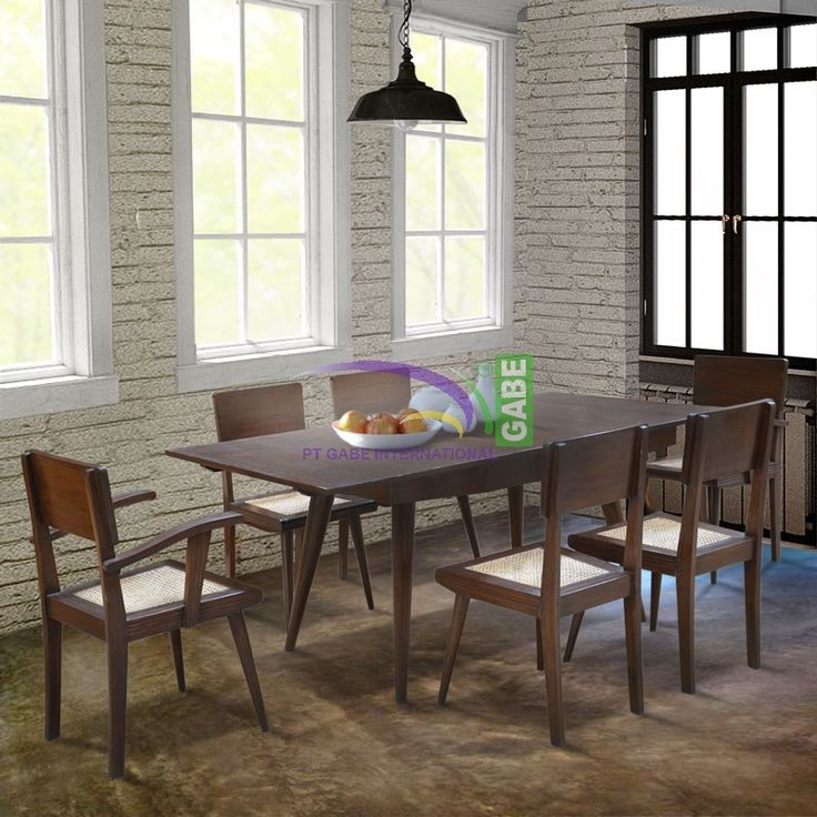 #diningtable #classicdesign #retrodesign #vintagestyle made from solid #teakwood combine with #rattancane #gabeinternational #production #furniture #furnituretoday #antique visit us www.gabeart.com