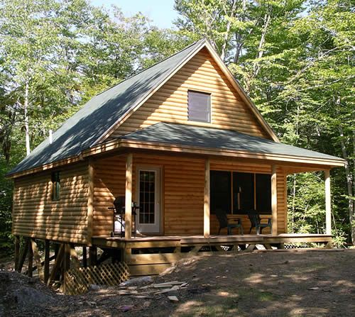 Rustic Log Cabin Photo Gallery Custom Designed Maine