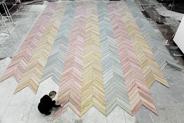 Parquet arc-en-ciel, Snedker Studio |MilK decoration