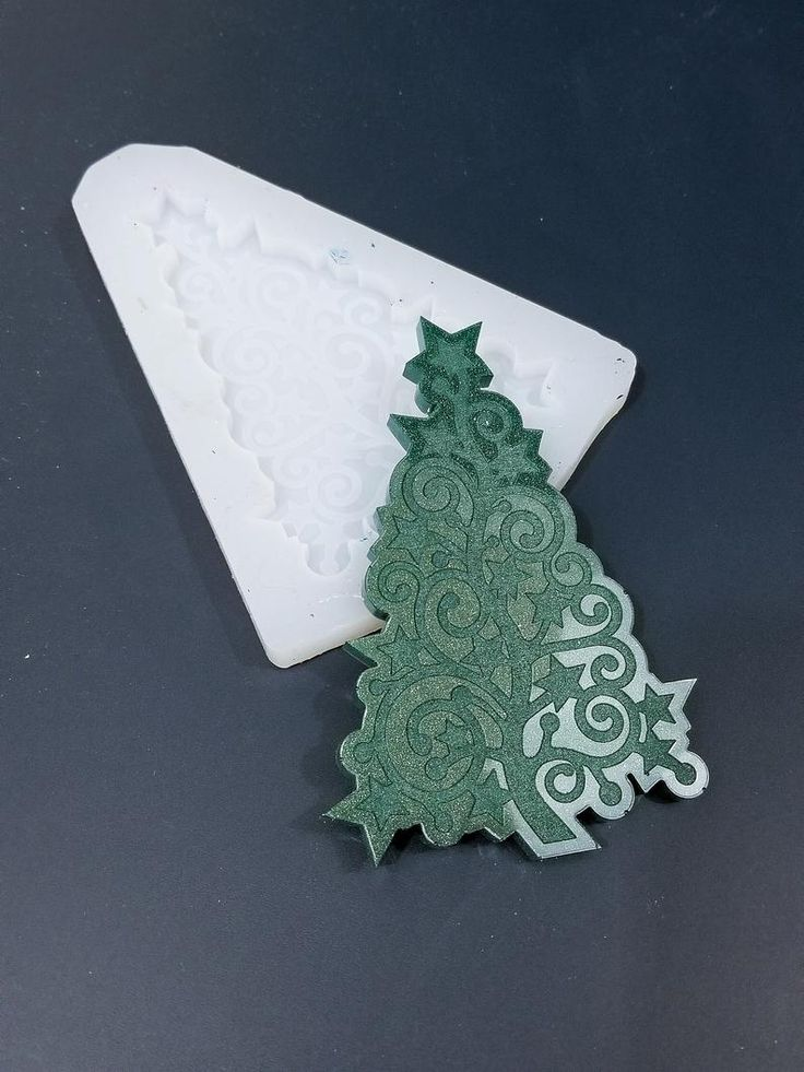Etched christmas tree silicone mold shiny mould for resin