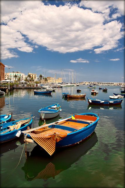 Port in Bari, Italy. Where my poppy is from