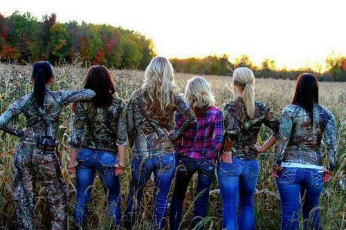 Bachlorette party idea ... Bridesmaids early morning pic...except we wont be in a field in camo...I don't think, lol