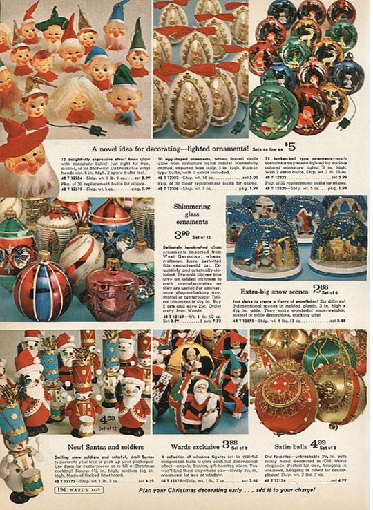 vintage christmas ornament catalog 1968 montgomery ward christmas catalog at first i thought 288 was dreaming of a vintage christmas pinterest