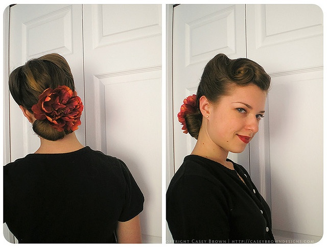 Casey is unstoppable with her beautiful vintage hair tutorials!