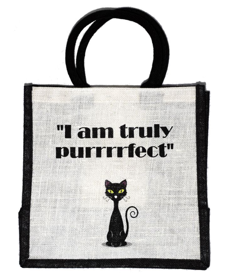 A fun #hessian #bag for cat lovers.