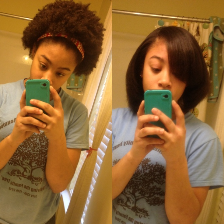 Natural Hair Shrinkage Before After