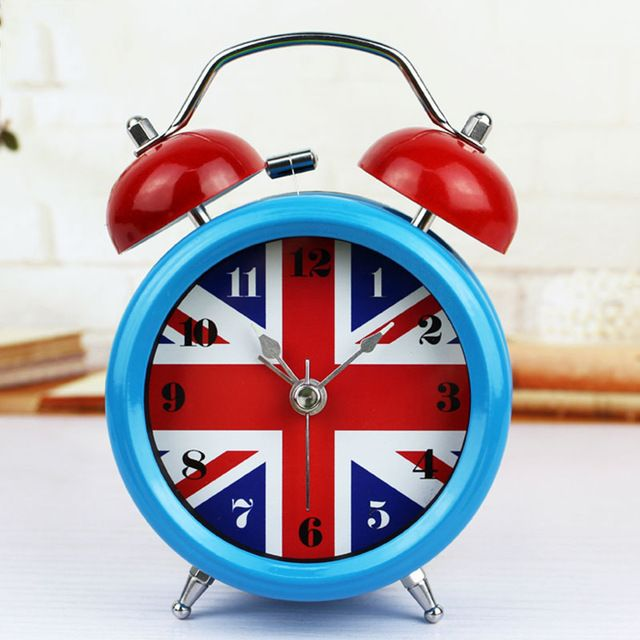 Special offer Free Shipping 2017 European Style British Flag Metal Alarm Clock Nightlights Bedside Alarm Clock Mute Sweep the stopwatch Clock just only $14.78 with free shipping worldwide  #clocks Plese click on picture to see our special price for you
