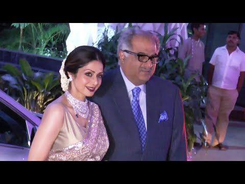 WATCH Sridevi & Boney Kapoor at Bhushan Kumar's sister Tulsi Kumar's wedding reception.http://youtu.be/pV5EUmzLnSo #sridevi #bollywood #bollywoodnews #filmybaten