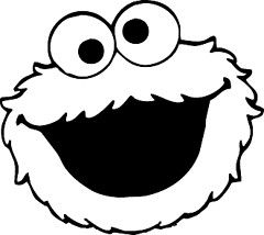 Free Printable Coloring Pages cookie monster | Cookie Monster Scarf Pattern