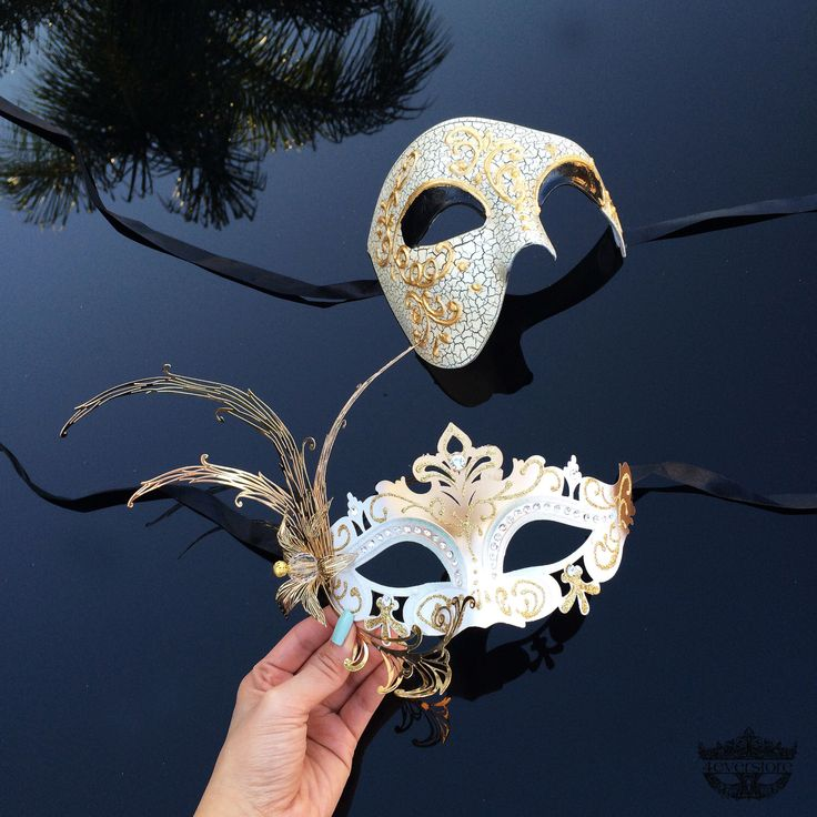 Couples Masquerade Mask, His & Hers Masquerade Mask, Gold Masquerade Mask, Masks, Mask, Mens Masquerade Mask, Mardi Gras Mask, Ivory | Gold by 4everstore on Etsy https://www.etsy.com/listing/225978490/couples-masquerade-mask-his-hers