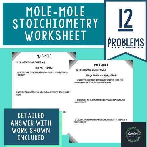 Mole-Mole Stoichiometry Worksheet - Detailed Answer Key ...