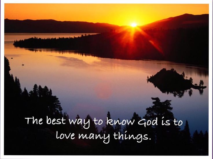 The best way to know God ...