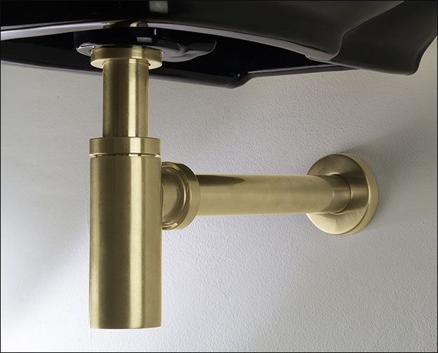 Brass Basin Bottle Trap | Moca Brass Bathroom Taps UK