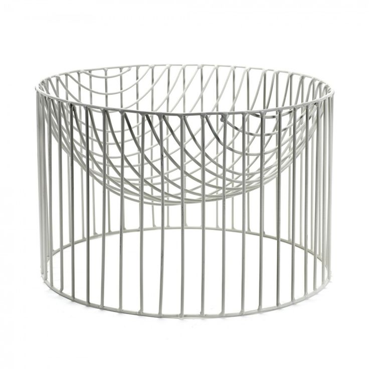 The White CATERINA Fruit Basket By SERAX Is Part Of A Large Range  Containers Metal Wire