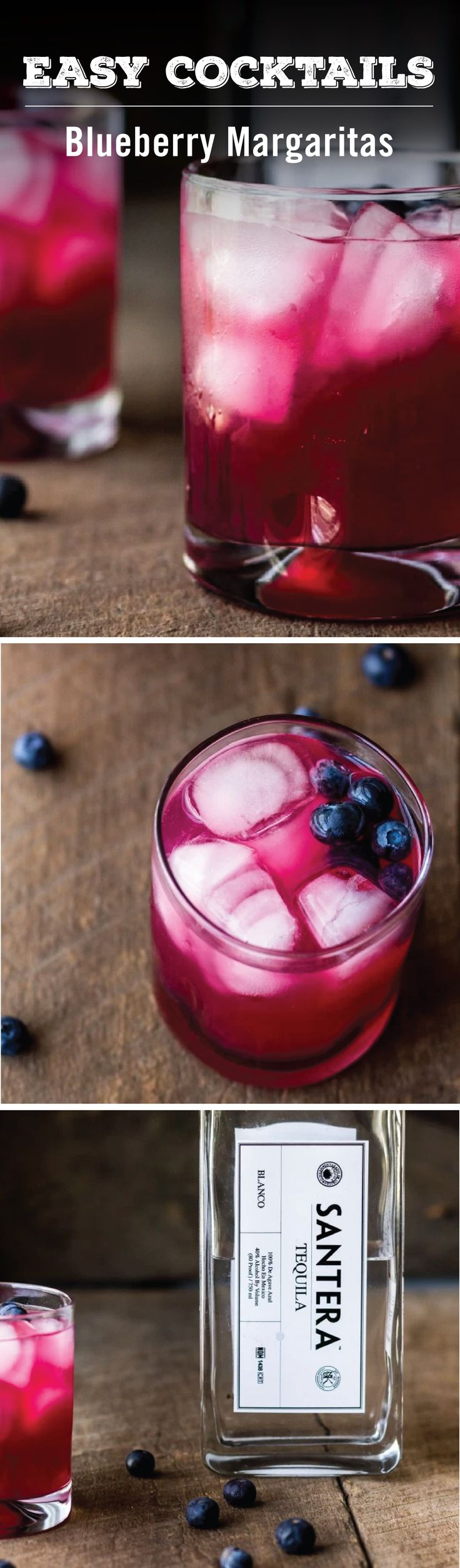 With one part tequila, one part lime juice, a splash of homemade blueberry simple syrup, and a finish of ice—not to mention a garnish of fresh blueberries— you've got the recipe for a delicious festive fruit cocktail. In our opinion this Blueberry Margarita is the perfect party drink.