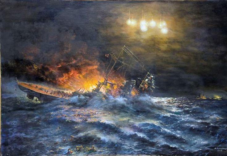Los últimos instantes del Scharnhorst, cortesía de Igor Dementiev. http://www.elgrancapitan.org/foro/viewtopic.php?f=72&t=18830&p=919443#p918402