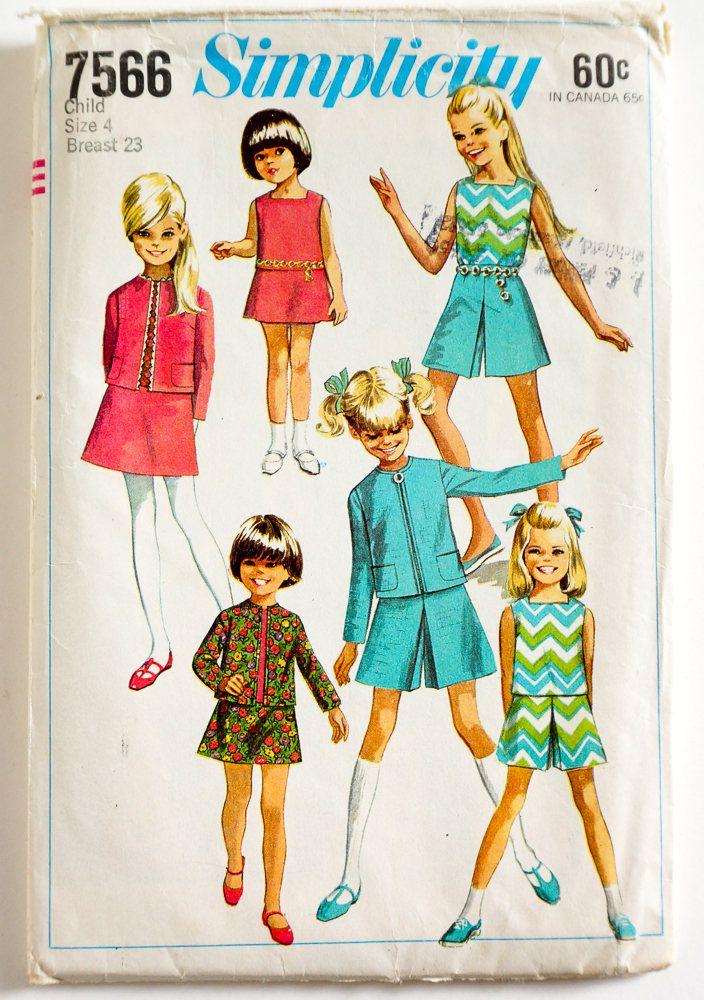 Mejores 169 imágenes de 1960s kids sewing patterns en Pinterest