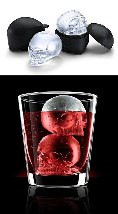 Surprise your buddies with large ice skulls that look very realistic in their drinks. Check it out==> | Ice Skull Molds By Think Geek | http://gwyl.io/ice-skull-molds-think-geek/