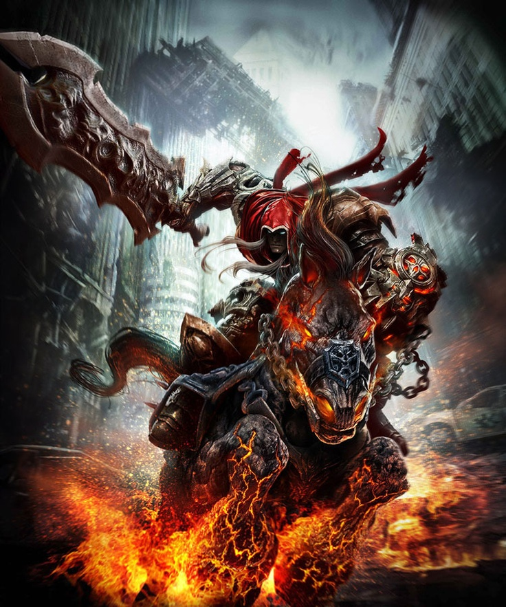 Darksiders.  Love the art style of these games.  Gameplay and story are amazing, too.