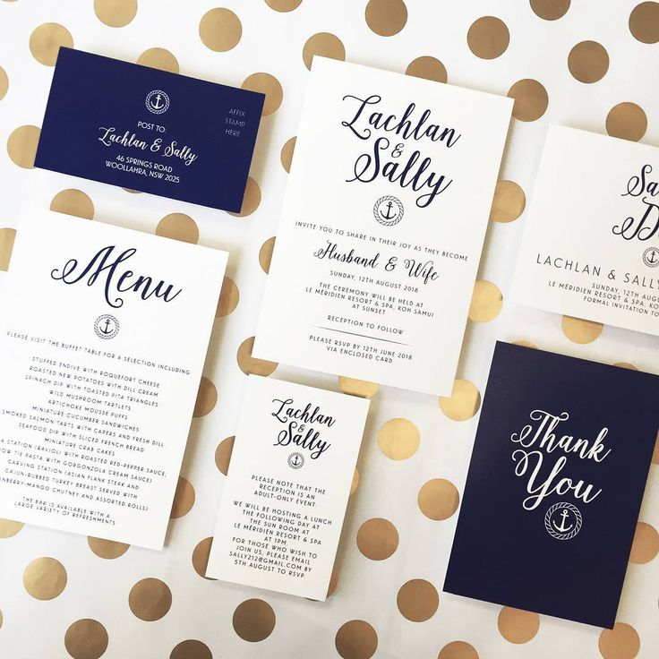 Ahoy! Check out this cute nautical inspired wedding suite!