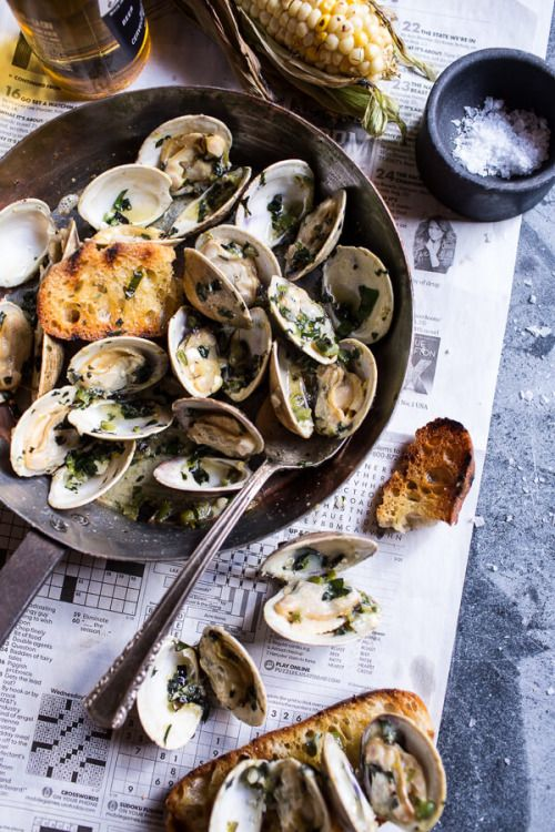 Do-not-touch-my-food: Clams with Jalapeño Basil Butter