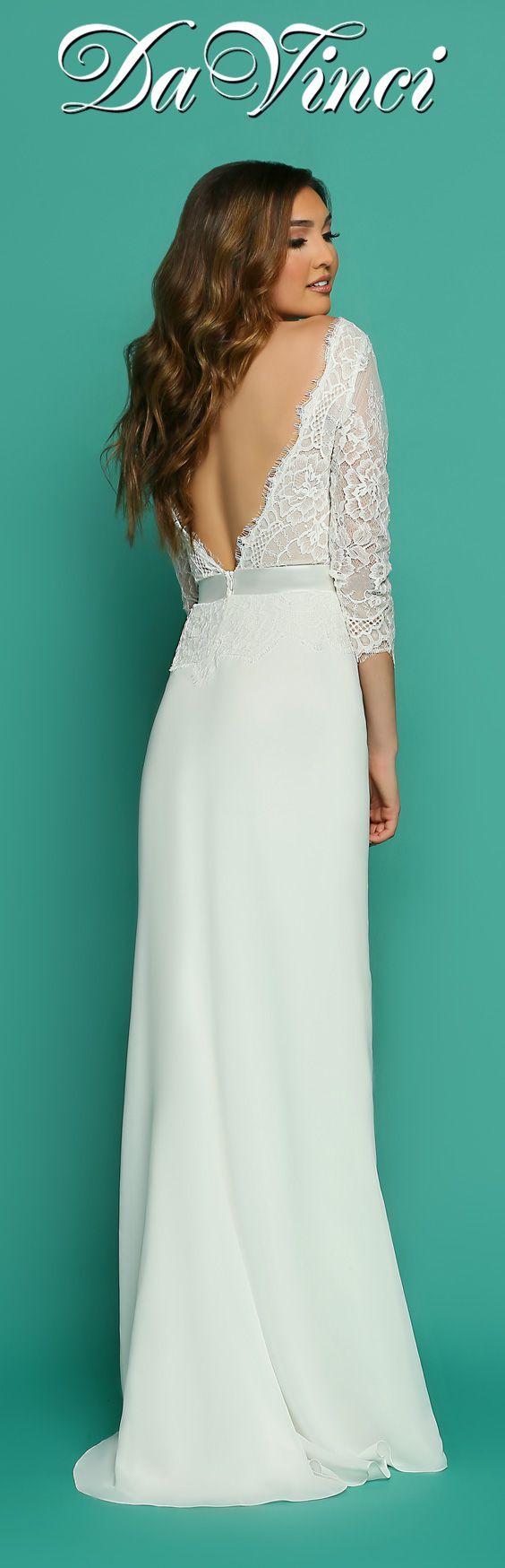 287 best Gorgeous Backs images on Pinterest | Short wedding gowns ...