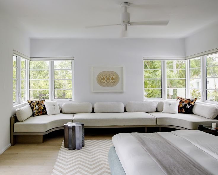 master bedroom in a revived miami villa belonging to furniture dealer stephan weishaupt of
