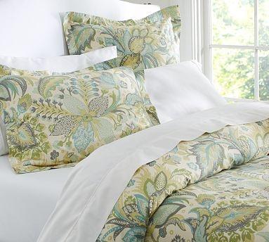 Juliana Floral Organic 350-Thread-Count Duvet Cover & Sham #potterybarn