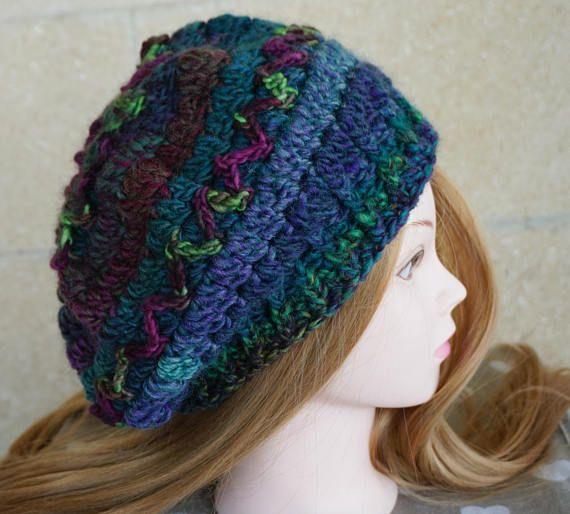 Crochet Colorful Short Beret - Mandala Flower