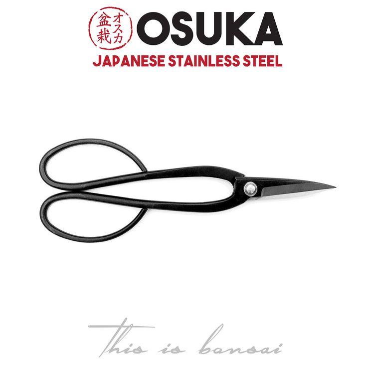 • OSUKA Bonsai Shears (Bonsai Scissors) • Length – 200mm • Finish – Black • Material – High Quality Japanese Stainless Steel