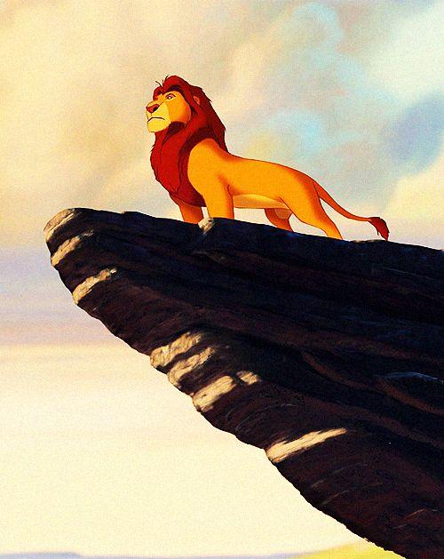 картинка короля льва на скале что