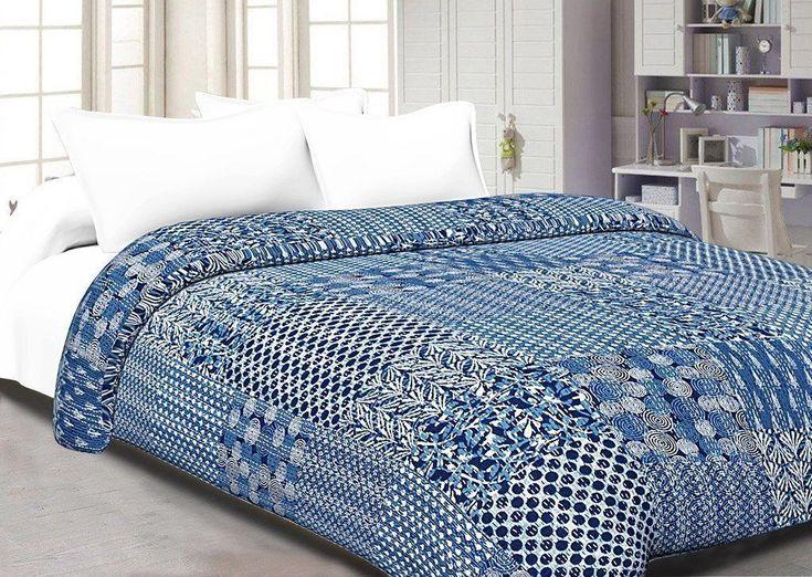 Anokhi Quilte Handmade Bedspread Coverlet Kantha Quilt