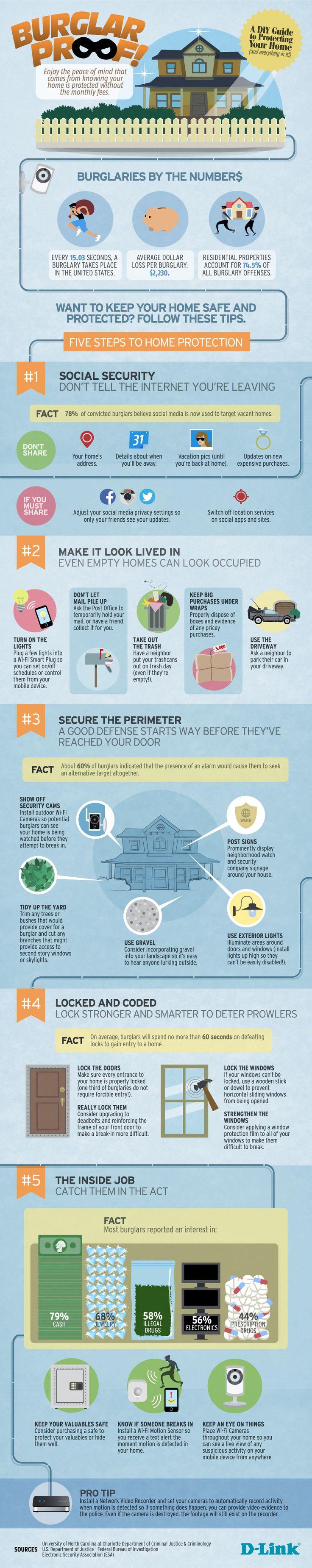 Burglar Proof: A DIY Guide to Protecting Your Home   D-Link Resource Center. http://blog.dlink.com/burglar-proof-a-diy-guide-to-protecting-your-home/