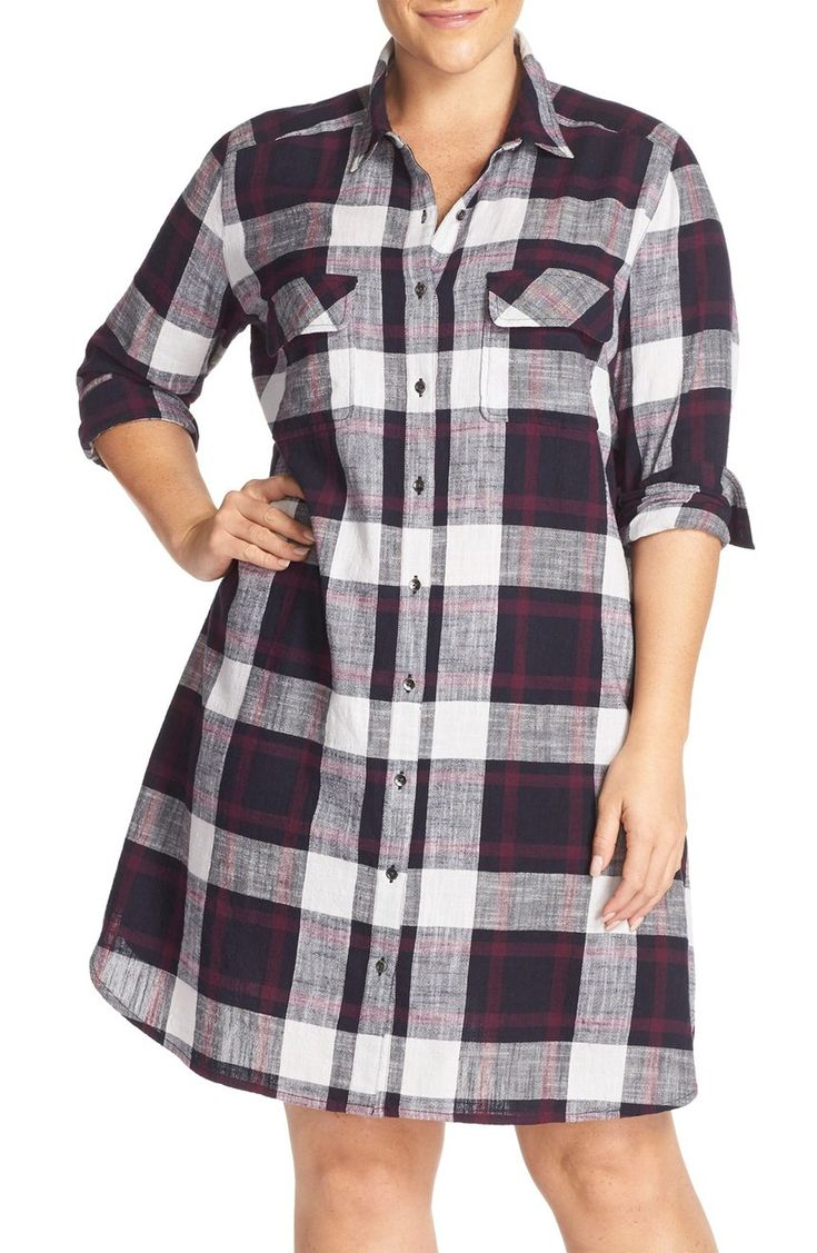 Casual and cute plaid dress https://api.shopstyle.com/action/apiVisitRetailer?url=http%3A%2F%2Fshop.nordstrom.com%2Fs%2Fcaslon-two-pocket-plaid-shirtdress-plus-size%2F4260293&pid=uid3424-25310868-85