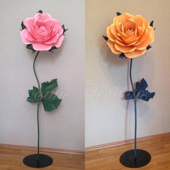 Giant Paper Flowers Paper Flowers With Stems Large Paper