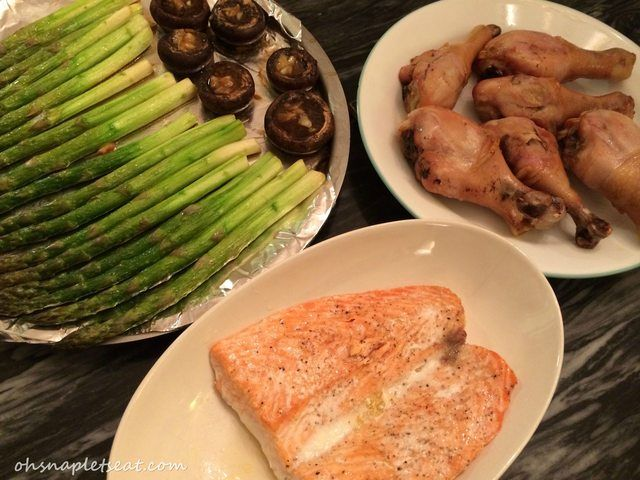 Oven Baked Garlic Baby Portobello Mushrooms (A Super Easy Oven Baked Dinner Part II)   Oh Snap! Let's Eat!