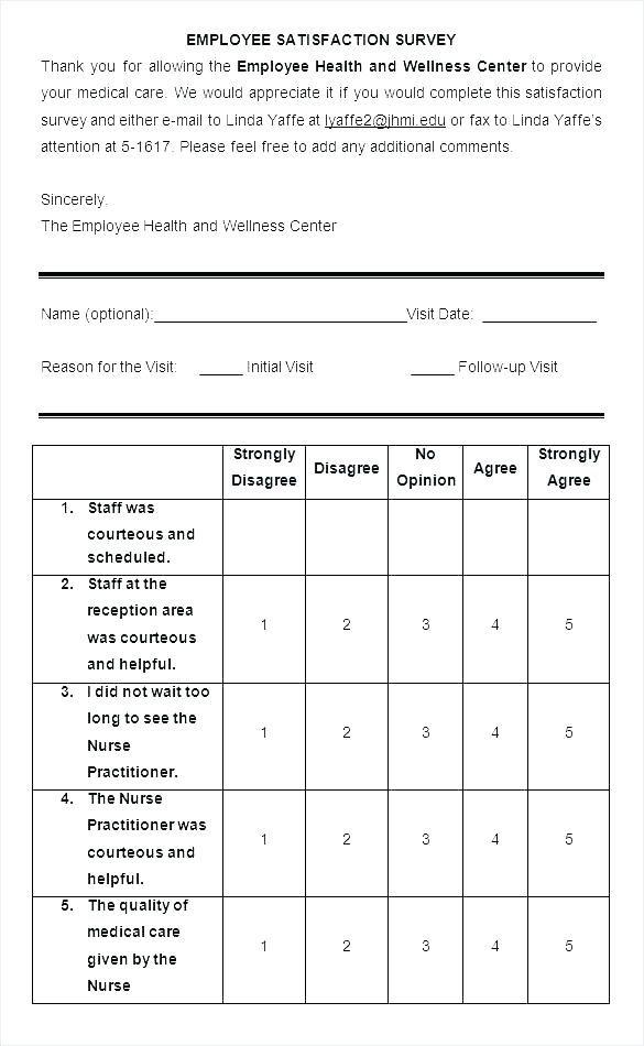 10 Patient Satisfaction Survey Sles Sle Templates Employee