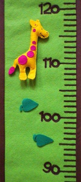 Messlatte mit Klettpüppchen! - ein Designerstück von TinaGarten bei DaWanda                                                                                                                                                                                 Mehr