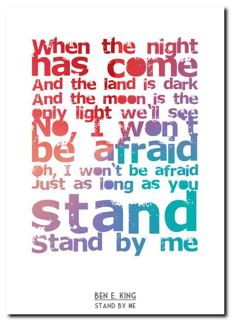 Lyrics~Stand By Me-Ben E. King - YouTube