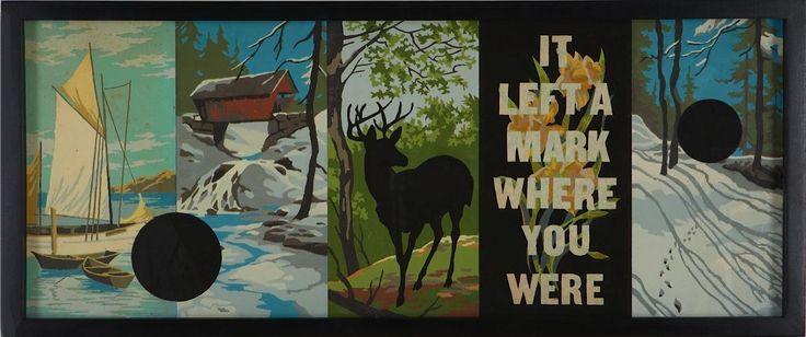It Left a Mark Where You Were, Trey SpeeglePaintbynumb Panels, Velvet Painting, Art Fair, Trey Speegl, Vintage Painting, Painting By Numbers, Ny 2012, Vintage Paintbynumb, Numbers 13
