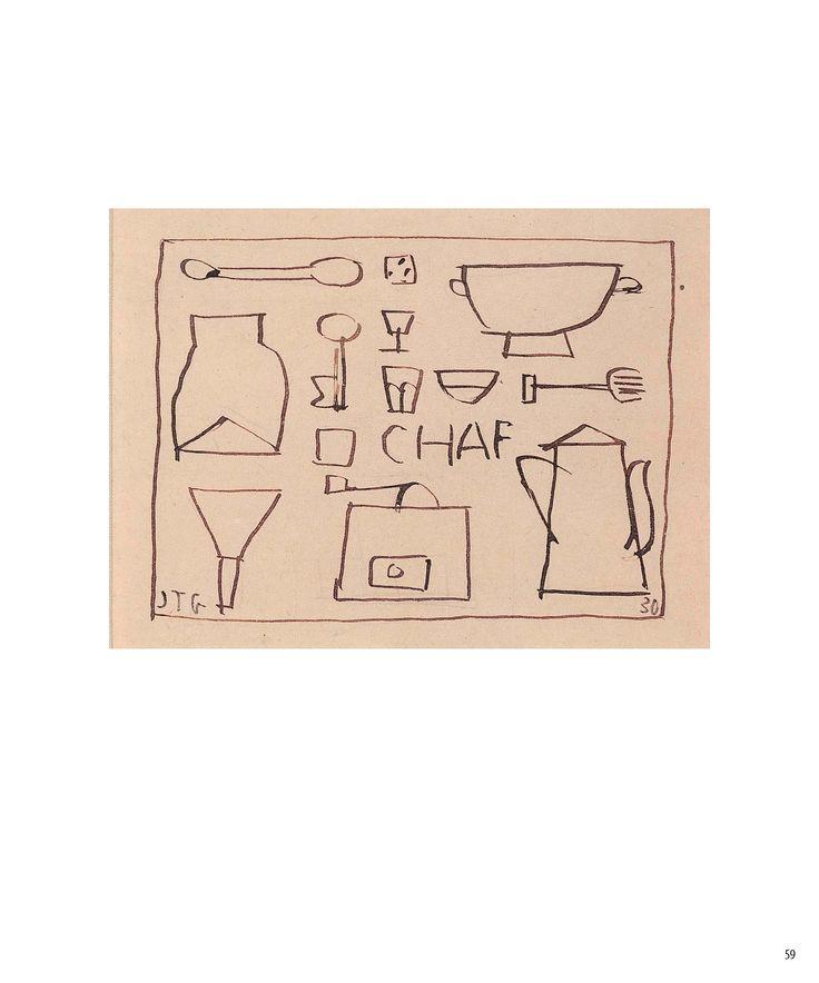 """Chaf"" 1930 Tinta sobre papel 9,5x12 cms JOAQUÍN TORRES-GARCÍA"