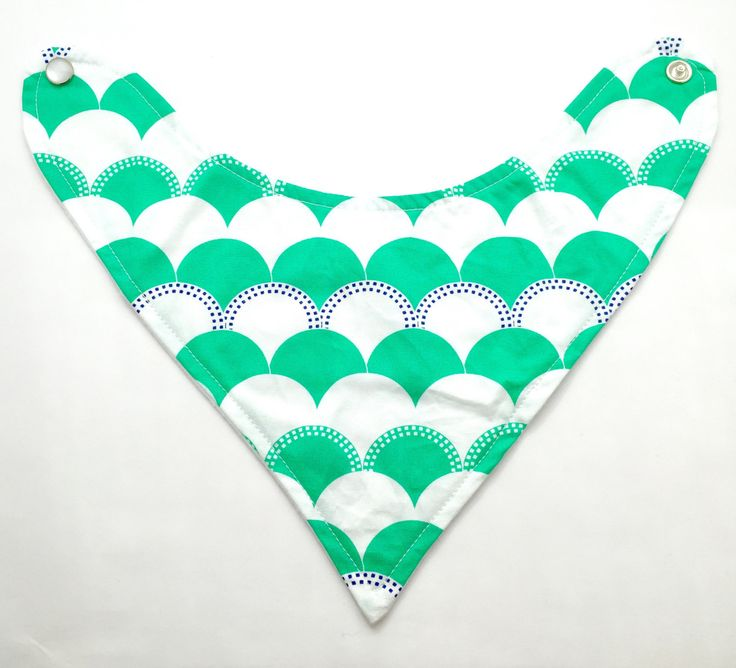 Green Waves Baby Bandana Bib, Green Baby Bib, Green Bandana Bib, Gender Neutral Bib by SewAuntieSew on Etsy