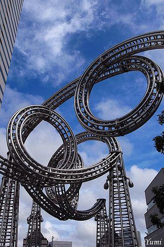 Roller Coaster in Yokohama, Japan